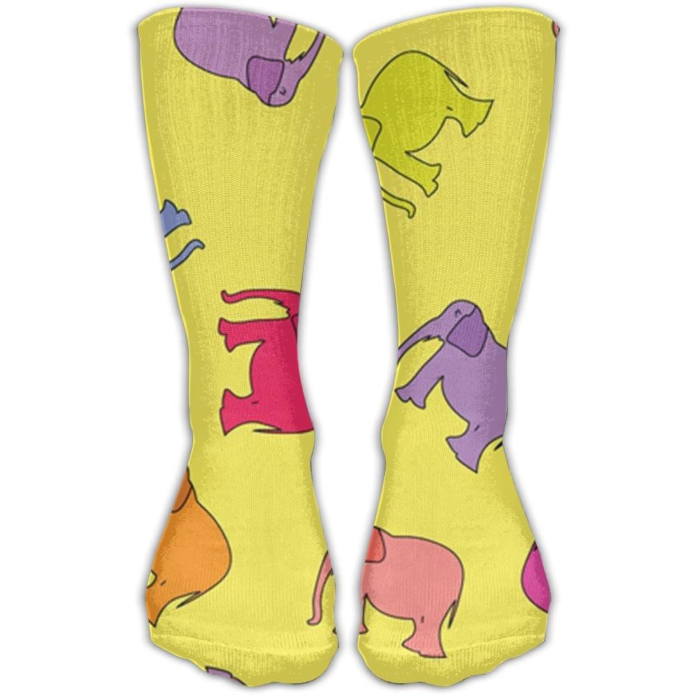 SESY Rainbow Elephant Unisex Crew Socks Short Sports Socks.