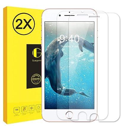 Protector de Pantalla para iPhone 6/ 6S, [2 Piezas] Vkaiy Cristal Templado Pantalla Protector iPhone 6/ 6S, Alta Transparencia, Anti Blu Ray, 3D ...