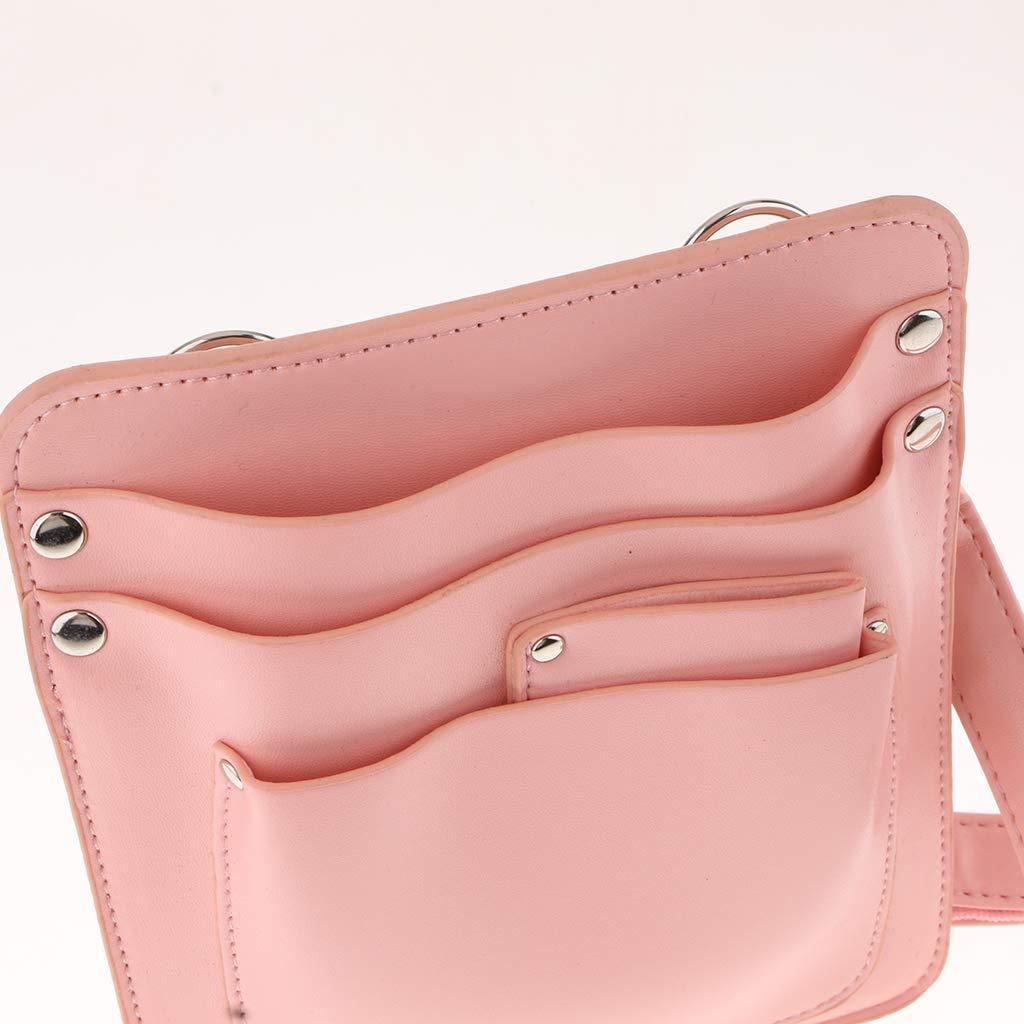 Homyl Top Grade PU Leather Florist Tool Bag Mini Gardening Tools Holster//Pouch//Holder,with Adjustable Shoulder Strap Pink