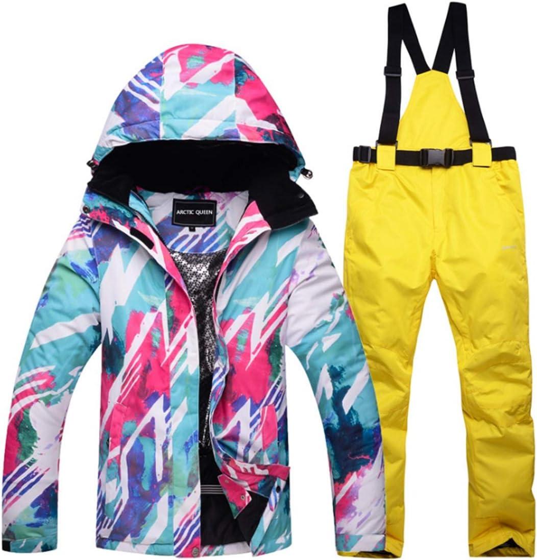 MEIDELE 雨雪アウトドアハイキングレディーススノーボードジャケットセットfor女性の防寒着冬のスキージャケットとパンツ (色 : 03, サイズ : M)  Medium