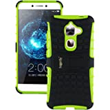 Heartly Rugged Shock Proof Tough Armor Back Case For Leeco Le Max2 / Letv Le Max 2 / Letv Le 2S Max - Great Green