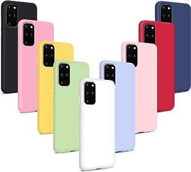 Comprar 9X Funda para Samsung Galaxy S20 Plus, Carcasas Flexible Suave TPU Silicona Ultra Delgado Protección Caso(Rojo + Rosa Claro + Púrpura + Amarillo + Rosa Oscuro + Verde + Negro + Azul Oscuro)