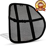 Mesh Lumbar Back Support Cushion - Breathable Fabric, Sturdy Frame, Non Slip Gripper Adjustable Straps Ergonomic Designed For Comfort And Lower Back Pain Relief - Suitable For Desk Office Chair Car