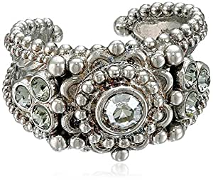 "Sorrelli ""Pewter"" Antique Flower Ring"