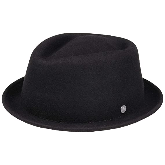 2913ed8ee3e7c Lierys Double Face Brim Porkpie Hat Wool Felt Trend: Amazon.co.uk: Clothing