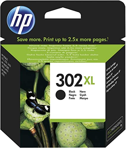 Oferta amazon: HP F6U68AE 302XL Cartucho de Tinta Original de alto rendimiento, 1 unidad, negro