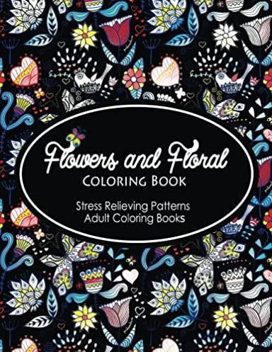 Flowers And Floral Coloring Book Fashion Inspired Adult Sketchbook For Artists Designers