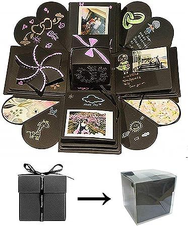 Kreative überraschung Box Explosions Box Diy Geschenk Handgemachtes Scrapbook Zubehör Faltendes Fotoalbum Mit 8 Lustigen Kartenaufkleber Und Andere