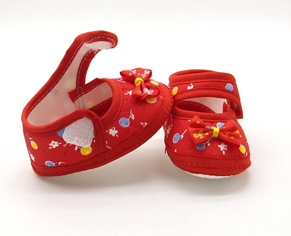 Newborn Infant Baby Bow Girls Soft Sole Prewalker Warm Casual Flats Shoes