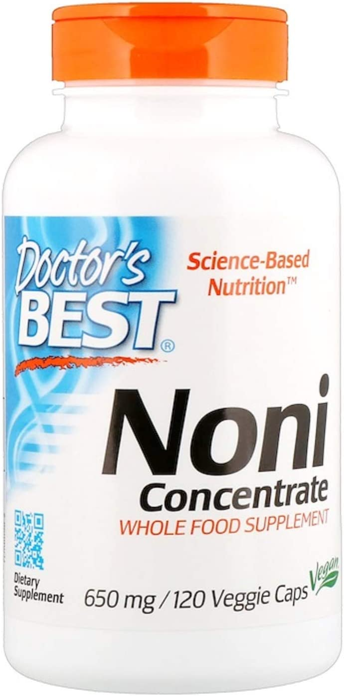 Noni Concentrate Super Antioxidant Immune System Polysaccharides and Phytonutrients 650 mg 120 Veggie Caps