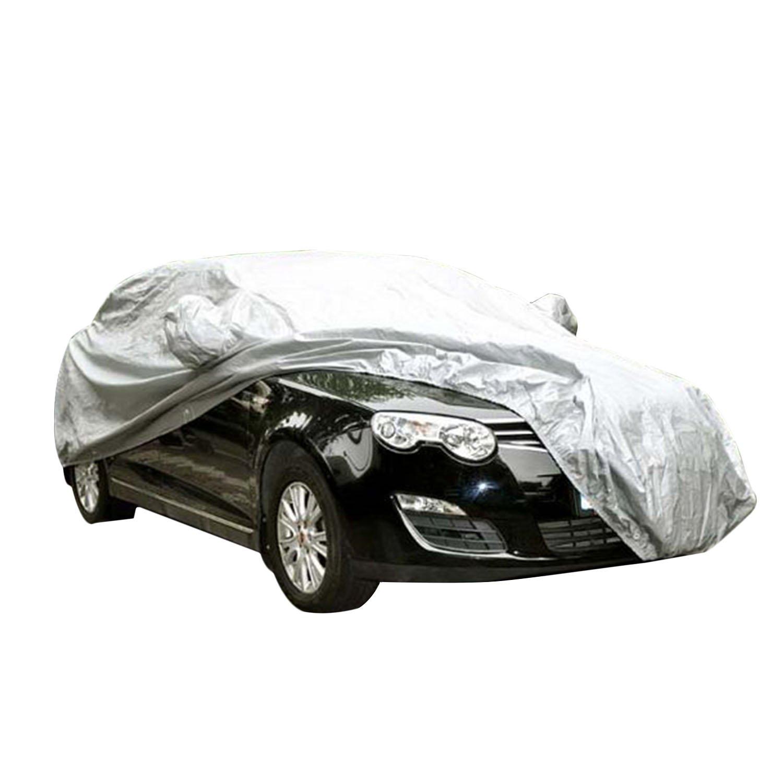 logei® Autogarage Ganzgarage Abdeckung Garage Abdeckplane Autoplane wasserdicht spezielles Cover für Rückspiegel, Silber (530 x 200 x 150cm) 209320000