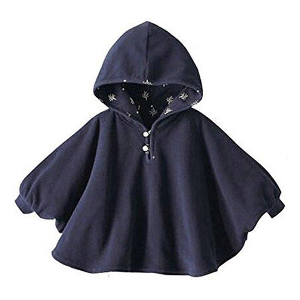 0e9f37f82 Juleya Unisex Baby Kids Toddlers Double-Side Wear Hooded Cape Cloak Winter  Warm Soft Poncho Hoodie Coat: Amazon.co.uk: Clothing