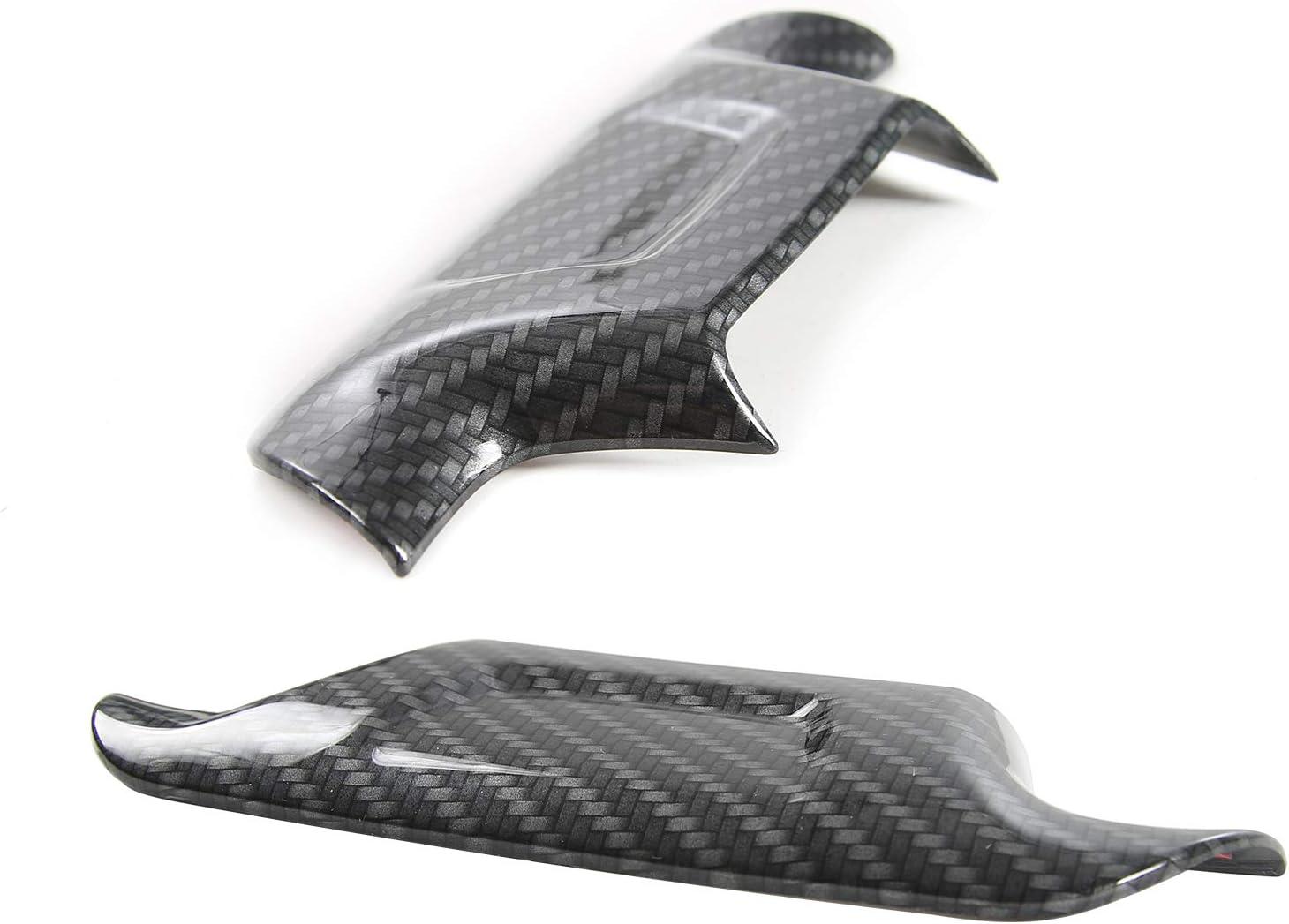 Voodonala for Camaro Accessories Steering Wheel Trim Decoration Cover for Chevrolet Camaro 2017 Up Carbon Fiber Grain 1Pc