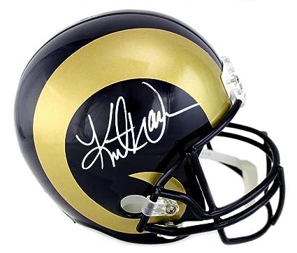 500f2b9fae0 Kurt Warner Signed Los Angeles Rams Full Size Helmet - Autographed NFL  Helmets