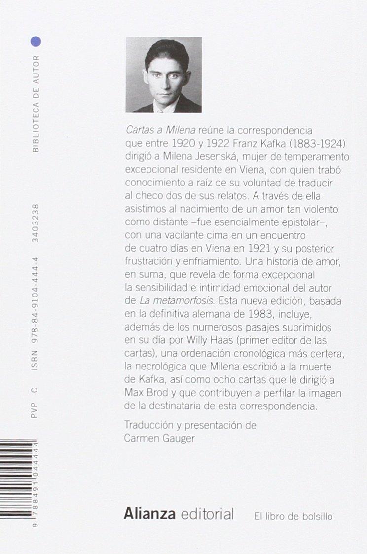 Cartas a Milena El Libro De Bolsillo - Bibliotecas De Autor ...