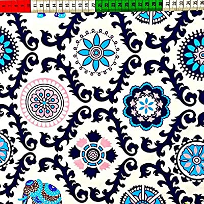 Pingianer - Tela de algodón 100% algodón 100 x 160 cm, patrón ...