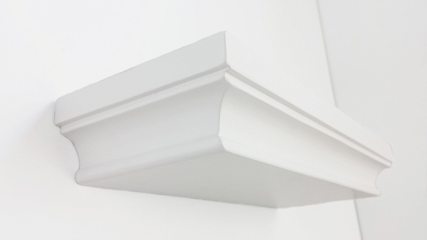 HAO ALWAYS DO BETTER Set of 3 Small Size Floating Wall Shelf 4 Inch Showcase White ER Mall