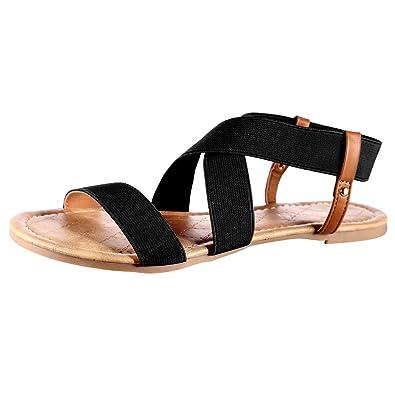 Mu Dan Women's Elastic Flat Sandals by Mu Dan