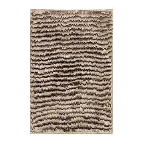 IKEA TOFTBO Microfiber Bath Mat - 35 x 24   1.25 Thick - Ultra Soft Super Absorbent Fast Dry (1, Beige)