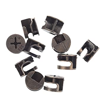 Shopystore Furniture Cabinets Metal Cam Fittings Connectors 10 Pcs