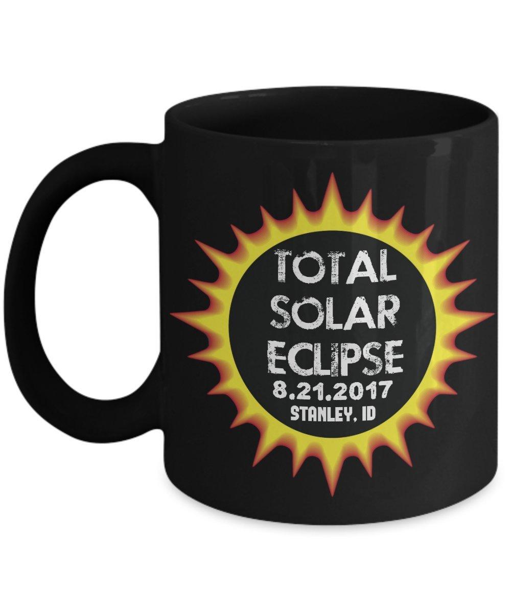 Total Solar Eclipse 2017 Stanley, Idaho Commemorative Astronomy Coffee Mug