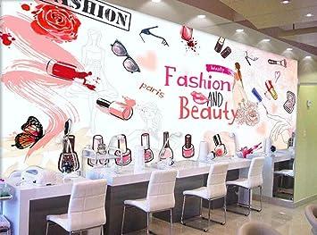 Wallpaper European And American Hand Painted Cosmetics Nail Shop Makeup Shop Wall Background Walls 3d Wallpaper 350cm 245cm Amazon Com