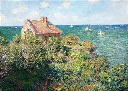 Posterlounge Alu Dibond 40 x 30 cm: Zoellnerhaus Fisherman b. Varengeville de Claude Monet