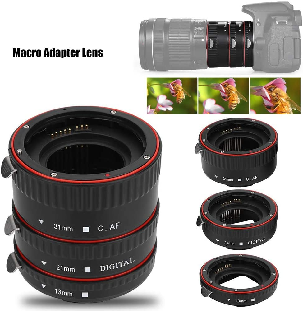 Oumij Lens Adapter Rings Set 13mm /& 21mm /& 31mm Metal Macro Transfer Auto Focusing Macro Extension Lens Adapter Tube Rings Set Macro Adapter for Canon EOS EF Mount