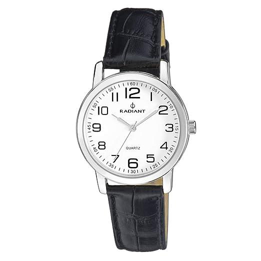 Radiant Reloj Analógico para Hombre de Cuarzo con Correa en Cuero RA281601: Amazon.es: Relojes