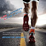 Ambielly Sports Men Socks 4 Pairs Athletic Training