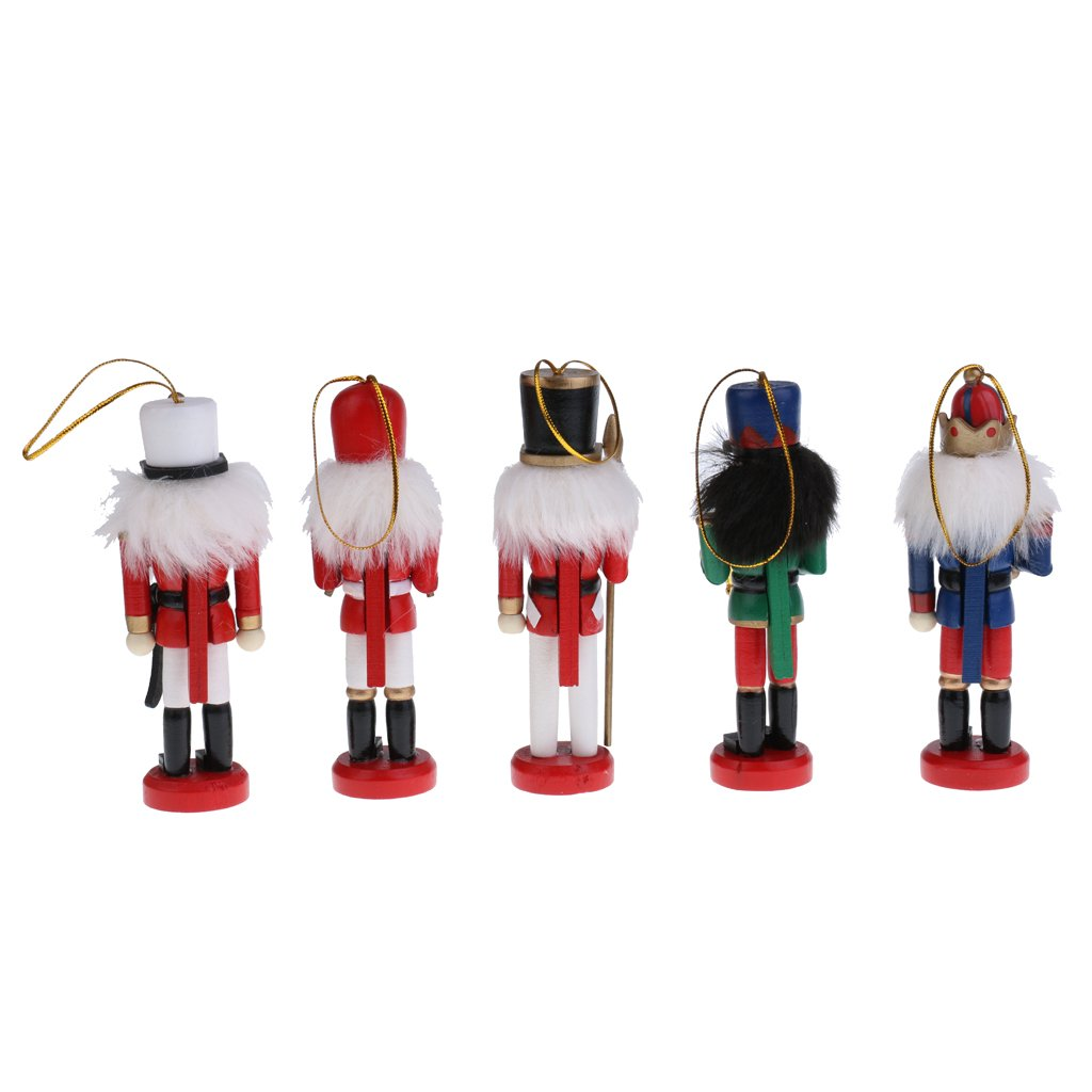Amazon.com: MonkeyJack 5Pcs 12cm Christmas Decorations Wooden ...