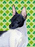 Caroline's Treasures SS4411CHF Rat Terrier St. Patrick's Day Shamrock Portrait Flag Canvas, Large, Multicolor Review