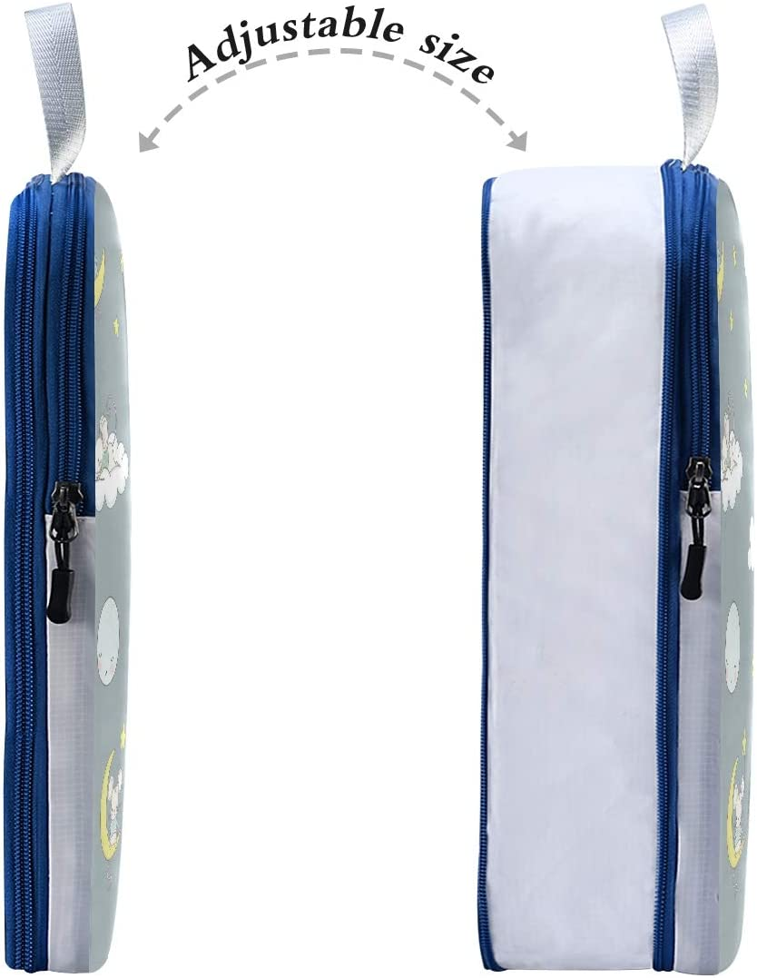 r Sleeping Mouse On Moon 3 Set Packing Cubes,2 Various Sizes Travel Luggage Packing Organizers