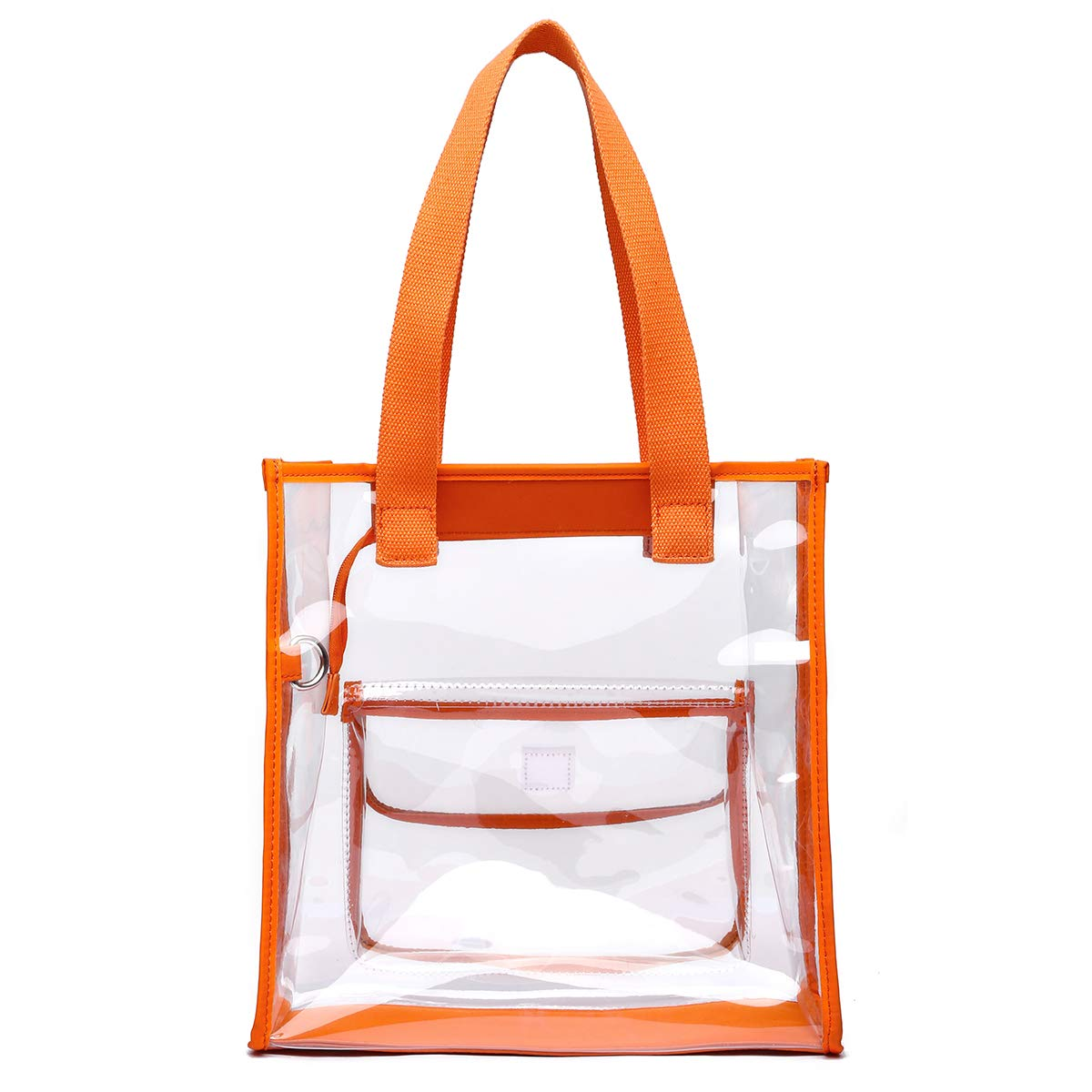 Clear Bag Set Tote and Pouch Combo 12 X 12 X 6 NFL Stadium Approved Shoulder Bag