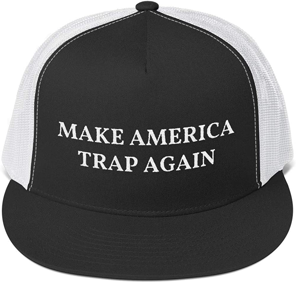 Five Panel Embroidered Trucker Cap Hat Styledjustforyou MAGA Hip Hop Make America Trap Again 5
