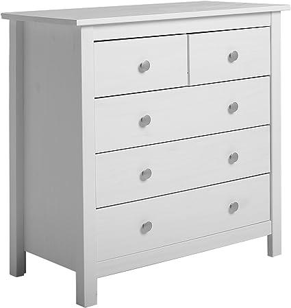 vs venta stock commode 5 tiroirs blanc fabrique en bois de pin massif