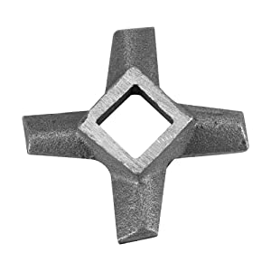 Cross-Shaped Professional Stainless Steel Kitchen Food Meat Grinder Blade Mincers Knife Cutter Replacement for Grinders(#5)