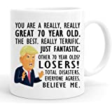 joey 70th Birthday Gift Trump Mug,11 Ounces, Funny Donald Trump Gag Coffee Mugs,1949 70 Year Old Birthday Gifts for Her, Frie