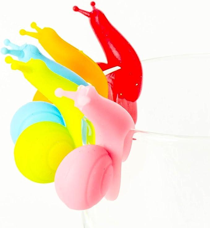 /Plato para bolsa de t/é tazas colgantes Bolsas de t/é Soporte colorida/ /Marcadores para vasos t/é missbirdler 6/Caracol Amigos silicona bolsas de t/é Soporte para bolsas de t/é caracoles/
