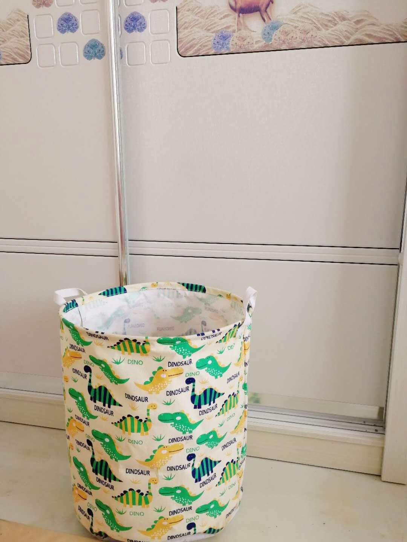 Dinosaur Unibedding Large Sized Waterproof Foldable Canvas Laundry Hamper Bucket with Handles for Storage Bin,Kids Room,Home Organizer,Nursery Storage,Baby Hamper
