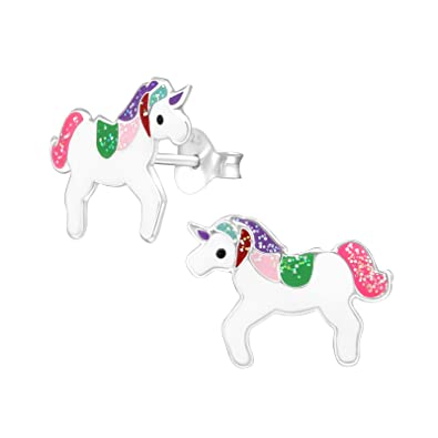 Colourful Unicorn Earrings VQEyTUioeb