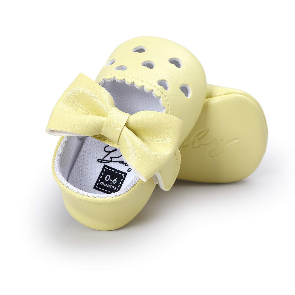 HsdsBebe Baby Girls Mary Jane Shoes Heart Hollow Out Ballet Flats Toddler First Walkers Infant Princess Bow Moccasins Crib Shoes