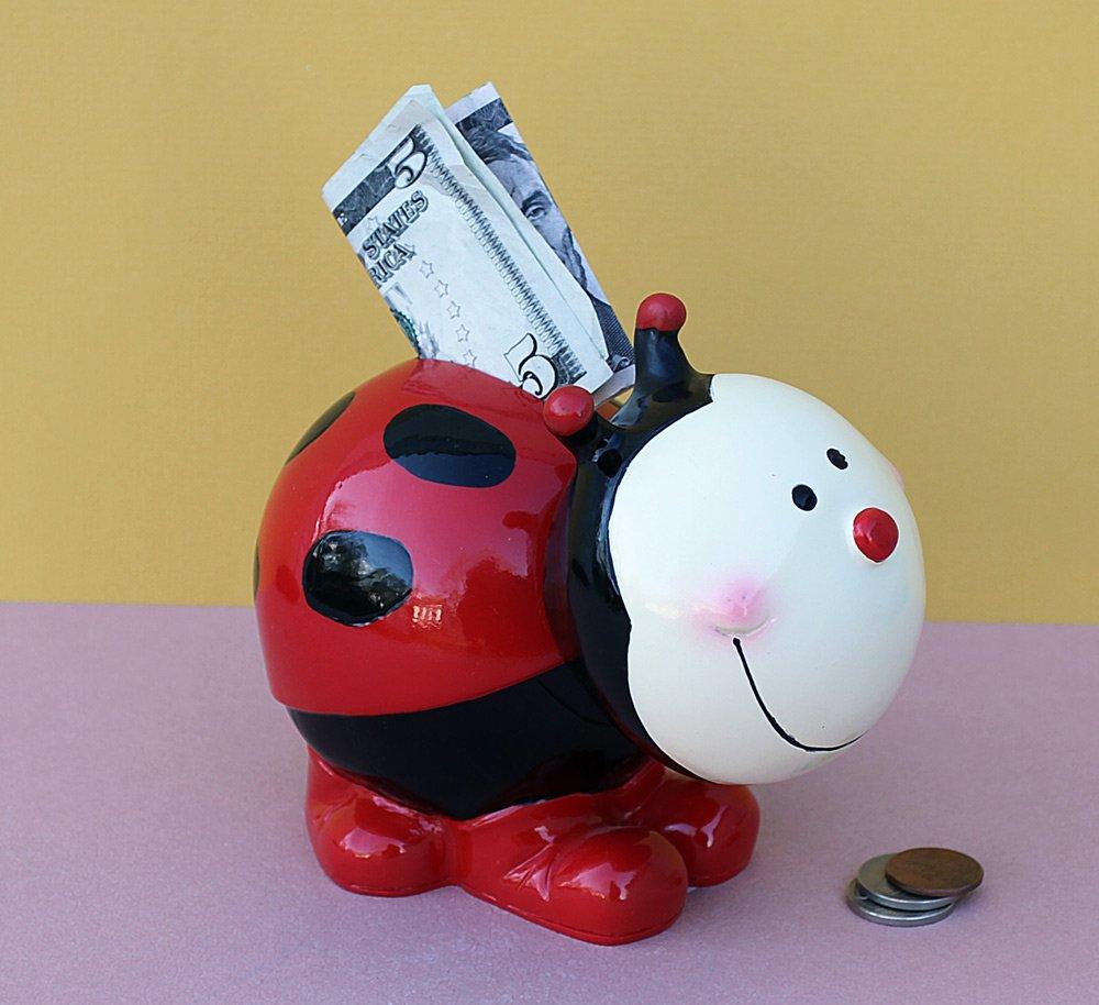 amazoncom bobble head ladybug piggy bank toys  games -