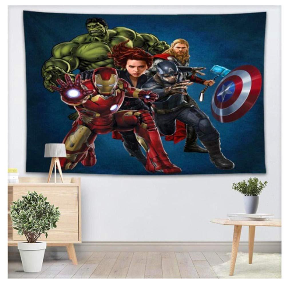 200 Cm A CTYKO Tapisseries Tapisserie Murale Impression 3D Avengers Tapisserie Tenture Murale Maison Tapisseries D/écoratives Serviette De Plage Couverture De Nappe De Yoga Tapis 150