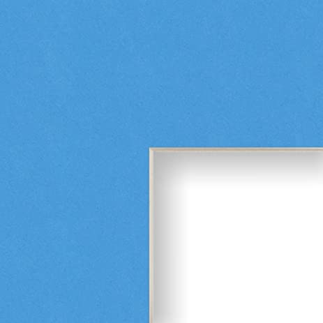 Amazon.com: 20x24 Mat for Picture Frame Bay Blue with Cream Core and ...