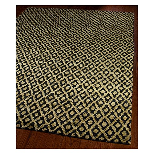 Safavieh-Bohemian-Collection-BOH315A-Hand-Knotted-Black-and-Gold-Jute-Area-Rug