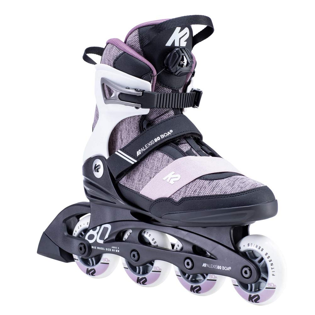 40 EU 6.5 UK White-Purple K2 Skates Damen Alexis 80 BOA-white-purple-40 30E0774.1.1.090 Inline Skates