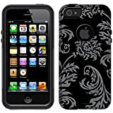 Otterbox Commuter Red Floral Damask on Black Case for iPhone 5