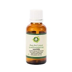 R V Essential Pure Bay Laurel Leaf Essential Oil 30ml (1.01oz)- Laurus Nobilis (100% Pure and Natural Therapeutic Grade)