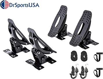 SUP Surfboard Car and Truck with Bow and Stern Lines Suitable for Canoe Kayaks DrSportsUSA Universal Kayak Rack and Canoe Carrier Rooftop Mount on SUV